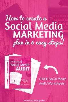 How to create a social media marketing plan in 6 easy steps. Get the free printable on the blog!
