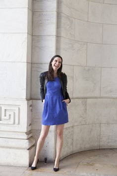 What We Wear to Work: Easy Style Staples From the Verily Editors - Verily Colbalt Blue Dress, Simple Style, Style Me, We Wear, How To Wear, Corporate Style, Office Wear, Cringe, Hangers