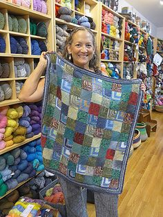 "This knitting ""recipe"" is for a mitered square project. What you do with your lovely mitered squares is completely up to you. You could make a blanket, a scarf, a cushion cover… the possibilities are endless."