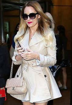 Lauren Conrad wearing The London Coat from the Paper Crown Fall 2012 collection