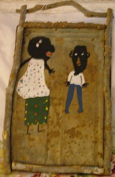 """Orange Hill Folk Art Gallery and Outsider Art Gallery - James A. """"Buddy"""" Snipes - Doodee Washington and His Wife"""