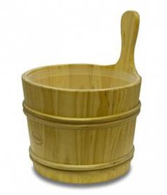 This 7L Pine Sauna Bucket with a Plastic Liner is designed with Finnish Pine in Finland.
