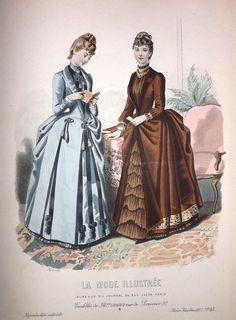 1880s Fashion, Victorian Fashion, Vintage Fashion, Fashion Prints, Fashion Art, Fashion Show, Fashion Illustration Vintage, Fashion Illustrations, Jean Délavé