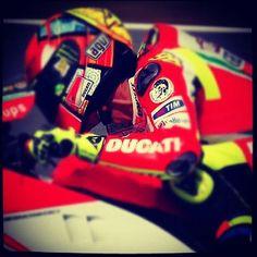 Valentino Rossi.   A sheeotinik Instagram.  Courtesy of DucTalk.com