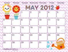 2012 Calendar pages