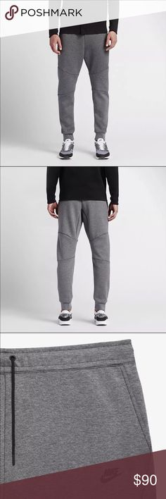 Nike Men's Jogger Sportswear Tech Fleece PREMIUM COMFORT The Nike Sportswear Tech Fleece Men's Joggers give you all day comfort in a modern silhouette. BENEFITS • Nike Tech Fleece is soft, light, and warm • Tapered design for a streamlined fit • Elastic waistband with crawford for a snug fit PRODUCT DETAILED • Fabric: 66% cotton/ 34% polyester • Machine wash • Imported  Retailed Price: $100 Nike Pants Sweatpants & Joggers