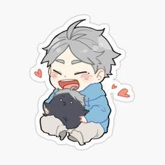 Anime Kawaii, Fnaf Anime, Cute Anime Chibi, Kawaii Chibi, Fanarts Anime, Anime Characters, Anime Art, Stickers Kawaii, Anime Stickers