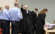 Anders Behring Breivik has given a Nazi salute upon his return to court to accuse the government of violating his human rights