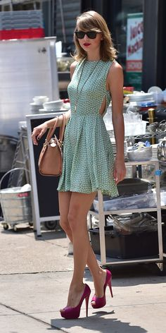 Taylor leaves the gym on July 22, 2014 in New York City. -Cosmopolitan.com    741      272      2
