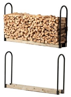 SLRA Firewood Storage Rack Adjustable Kit by Shelter Outdoor Firewood Rack, Firewood Holder, Firewood Storage, Wood Store, Shed Kits, Wood Shed, Building A Shed, Diy Pergola, Pergola Kits