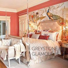 Adore the color on wall and bench in this Image...Inspirationl for my Room :) From the Greystone Mansion showhouse . . . too gorgeous....#styledby