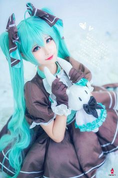 Hatsune Miku Cosplay - Everything About Anime Vocaloid Cosplay, Kawaii Cosplay, Cosplay Anime, Epic Cosplay, Cute Cosplay, Amazing Cosplay, Cosplay Outfits, Hatsune Miku Costume, Manga Kawaii