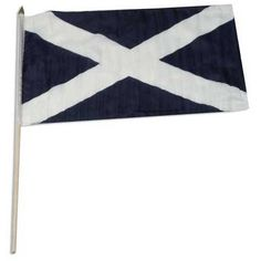 "Scotland - St Andrews Cross - Flag 12 x 18 inch by US Flag Store. $4.59. International 12in x 18in Stick Flag. Brilliant Colors Printed on Polyester Fabric. Low Cost Shipping Available!. Mounted to a 24"" Wooden Stick. Sewn Edges. Scotland ( St Andrew's Cross ) stick flag 12 x 18 inch, mounted on a 24 inch wooden stick. Flag is made from polyester and printed in bright colors to make an attractive flag. Each Scotland ( St Andrew's Cross )flag is individually sewn around the edges."