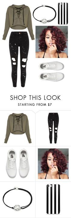 """""""Untitled #2244"""" by aiag ❤ liked on Polyvore featuring River Island, Vans and Alex and Ani"""