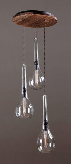 ALCHEMY triple pendant light by www.reclamations.co