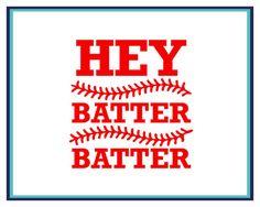 Baseball Decal  Hey Batter Batter Decal  by JoniAlexisDesigns