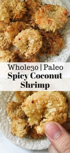 Diet Recipes Spicy Coconut Shrimp Paleo, Gluten Free, Dairy Free) - Spicy Coconut Shrimp - and Paleo friendly. A quick and delicious appetizer or addition to any weeknight meal. Simple but delicious! Dairy Free Recipes, Paleo Recipes, Gourmet Recipes, Cooking Recipes, Gluten Free, Whole30 Shrimp Recipes, Paleo Food, Lunch Recipes, Easy Recipes