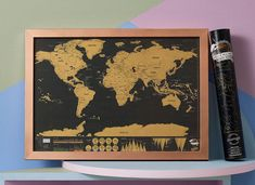 Luckies of london scratch map deluxe travel edition Framed Maps, Wall Maps, Foil Packaging, Destinations, Scratch Off, Black Paper, Travel Scrapbook, Decoration, Travel Size Products