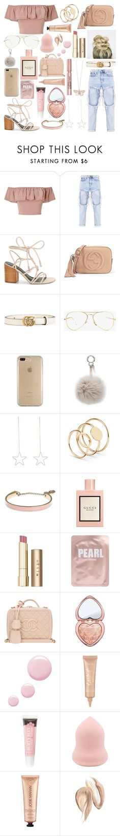 """A Daydream Away"" by ebz127 ❤ liked on Polyvore featuring Miss Selfridge, Rebecca Minkoff, Gucci, Speck, Fendi, Alex Monroe, Ivanka Trump, Stila, L'Oréal Paris and Lapcos"