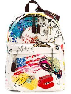 Marc Jacobs парусиновый рюкзак 'Collage Print'