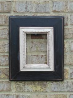 5x7 black and white wooden picture frame