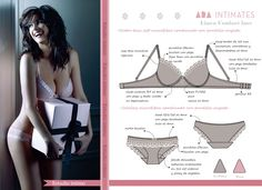 Estudio Intimo: Trabajos Underwear Pattern, Designer Lingerie, Technical Drawing, Fashion Sketches, Diy Clothes, Sexy Lingerie, Beachwear, Sewing Patterns, Arabic Art