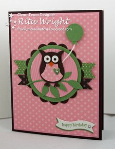 Rita's Creations.  Stampin' Up! Owl Punch.