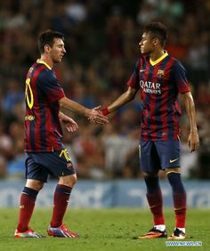 Neymar and messi Messi And Neymar, Messi Soccer, Mens World Cup, Neymar Pic, Free Kick, Best Club, Best Player, Famous Celebrities, Soccer Players