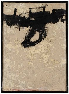 UTAN TITEL  By Antoni Tàpies    Dimensions: 75 x 54 cm  Medium: mixed media and sand