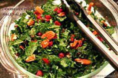 Cranberry Pecan Kale Salad - Healthy and crunchy salad