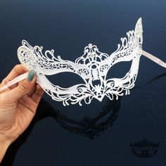 Masquerade Mask White Masquerade Mask Lace Mask Lace by 4everstore