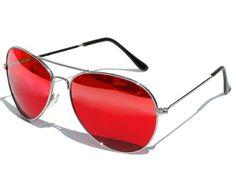 Tedd Haze Pilotenbrille Red-Star mit Brillen Beutel