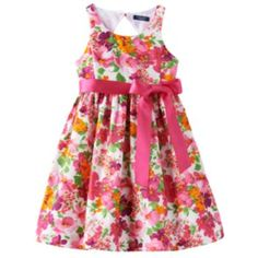Chaps+Fit+&+Flare+Floral+Dress+-+Girls+7-16
