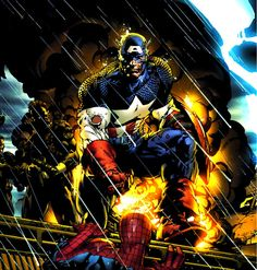 Captain America and Spider-Man by David Finch