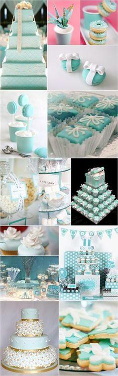 """En panne d'inspiration pour le dessert sur un thème """"mariage bleu"""" voici quelques idées ! #B4wedding #wedding #mariage #bleu #blue #gâteau #cake"""