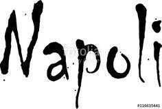 Naples text illustration