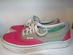 Vans womens Skate shoes size 9.5 mens size 8.5, Pink& Beige Fast shipping #VANS #SkateShoes