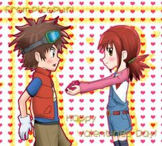 Valentine's Day by picopuri on DeviantArt Saint Valentine, Valentines Day, Digimon Fusion, Fanart, Best Hug, Funny Scenes, Sweet Pic, Anime Characters, Fictional Characters