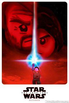 Star wars the last jedi poster lego Lego Film, Lego Movie, Lego Decals, Lego Minifigure Display, Lego Stormtrooper, Star Wars Jokes, Lego Worlds, Comic Movies, Lego Super Heroes