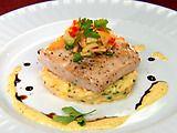 Seared Mahi-Mahi with Saffron Risotto and Mango Sauce Recipe : : Recipes : Food Network