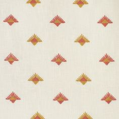 S3626 Rose Pillow Inserts, Pillow Covers, Greenhouse Fabrics, 1 Rose, Geometric Fabric, Pattern Matching, Yellow Fabric, Ditsy, Embroidery