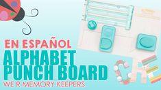 Alphabet Punch Board de We R Memory Keepers en Español. Aprende a realizar cualquier letra para tus proyectos de scrapbooking y manualidades.