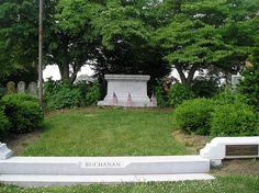 The President is buried in Woodward Hill Cemetery, Lancaster, Pennsylvania. Cemetery Headstones, Old Cemeteries, Cemetery Art, Graveyards, American Presidents, Us Presidents, American History, Presidential History, Presidential Libraries