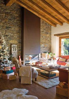 Una casa de Navidad con espíritu nórdico · ElMueble.com · Casas                                                                                                                                                                                 Más