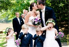 great flower girl and ring bearer picture