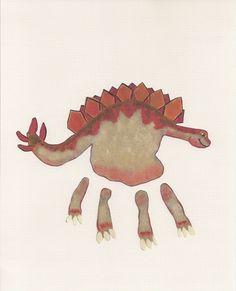 Handprint Dinosaur
