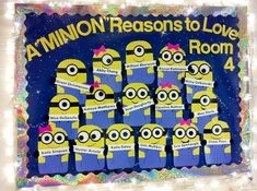 Clever Back to School Bulletin Board Ideas - Crafty Morning (minions) Classroom Displays, Classroom Themes, Classroom Organization, Minion Classroom Theme, Holiday Classrooms, Class Displays, Classroom Board, Book Displays, Library Displays