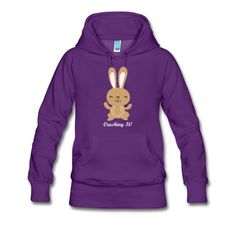 Let everyone know you're on it!  The Premium Hoodie from Spreadshirt is warm and cozy with a tailored and feminine fit.
