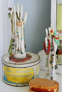 hand jewel storage- we sell this style of hand at Mannequin Madness.com -http://www.mannequinmadness.com/mannequin-hands/