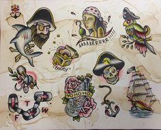 traditional female pirate tattoo - Google Search | tattoos ...